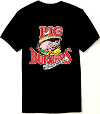 Better Off Dead T Shirt - Pig Burgers - 80s Comedy Classic - New Black Cotton.