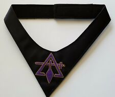 Royal & Select Masters (Cryptic) Cravat with Hand Embroidery Symbol