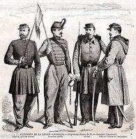 Uniformi dei Cacciatori delle Alpi di Garibaldi.Risorgimento.+ Passepartout.1859