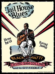 John Tefteller's Blues Images Poster Crying Sam Collins Rare Black Patti Artwork