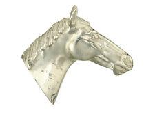 Horses Head Brooch Solid Silver Handmade to order British hallmarked