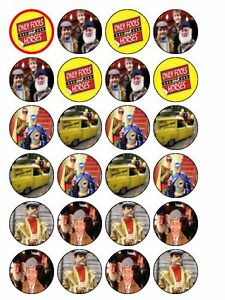 """24 x Only Fools And Horses 1.5"""" PRE-CUT Edible Cake/ Cupcake Toppers Decorations"""