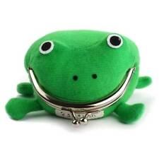 Women Kids Girls Cartoon Coin Purse Wallet Green Frog Mini Cute Hand Bag Pouch