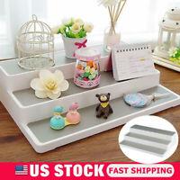 Home Kitchen Pantry 3-Tier Cabinet Organizer Storage Shelf Spice Jar Rack White