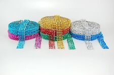 1 METRE SPIKE STUD TRIM LACE, FLAT BACK ACRYLIC BEADED, 7 COLOURS AVAILABLE