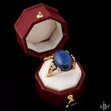 Antique Vintage Deco Retro 14k Yellow Gold Balfour 6.52 C Lapis Lazuli Ring! S 5