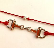 KARMASTRING red string horsebit tie-on luck bracelet equestrian plus Free Gift
