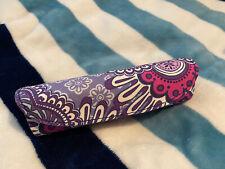 Vera Bradley Glasses Case Hard Magnetic Medium/Small Purple Paisley