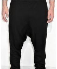 Eight To Four Harem Pants W30 Mens Velvet Elastic Waist Stretch Solid Black