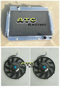 Aluminum Radiator +Fan FOR Chevy Chevelle/Impala V8 El Camino 1963-1968 67 66