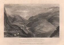1860 ANTIQUE PRINT INDIA - VIEW NEAR JUBBERA, NORTHERN BENGAL