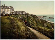 Folkestone. The Lees. PZ vintage photochromie,  photochromie, vintage photochr