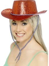 Cowboy Glitter Hat Hen do Adult Womens Smiffys Fancy Dress Costume Accessory