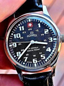 Men's VINTAGE 1978 SWISS ROAMER Calibre ST 96N 17 JEWELS INCABLOC 24 HOUR Watch