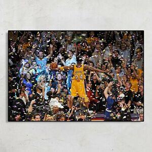 Kobe Bryant Championships Poster Basketball NBA Poster No Frame