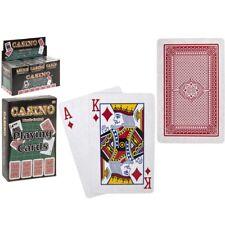 8.5 cm revestido de plástico jugando cartas Poker Juegos Snap cubierta Reyes Reinas Ace