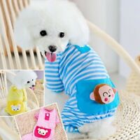 Pet Dog Pajamas Clothes Stripe Cotton Soft Vest Pets Puppy Jumpsuit Apparel Coat