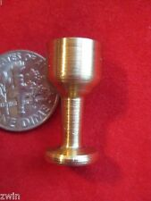 doll house MINIATURE WINE GOBLET cup genuine gold tone brass hand-made new