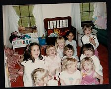 Vintage Photograph Group of Little Girls Sitting on Floor in Play Room