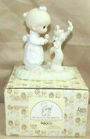 """PRECIOUS MOMENTS by Enesco 1983 Piece E-0530 Collectible 5.5"""" Porcelain Figurine"""