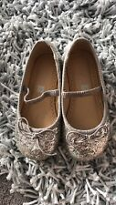 John Lewis Girls Mary Jane Sparkle Glitter Party Silver 7
