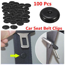 Universal 100x Clip Seat Belt Stopper Buckle Button Fastener Safety Car SUV Part