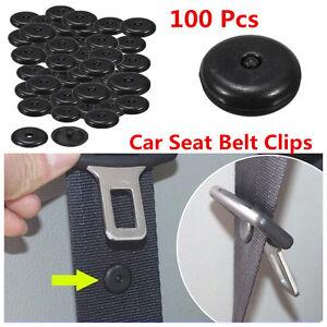 Universal 100x Clip Seat Belt Stopper Buckle Button Fastener Safety Car SUV Part
