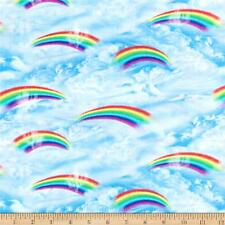 Fat Quarter Rainbow Garden Fantasy Sewing Cotton Quilting Fabric
