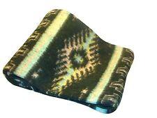 "#5 Classic Medallion Brush Alpaca Blend Recycled Wool Blanket Reversible 78""x96"""