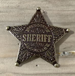 Gold Lincoln County Sheriff Badge / Shield