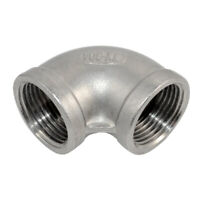 """1 Piece 1"""" Elbow 90 Degree Angled SUS SS304 Female Threaded Pipe Fitting NPT-NPT"""