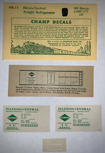 CHAMP HO DECAL - ILLINOIS CENTRAL / IC REFRIGERATOR CAR  - HR-11