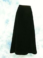 New listing ViNtage GlaM Black Velvet QuiLted Long Maxi EveniNg Dress Gown SkiRt 28/w