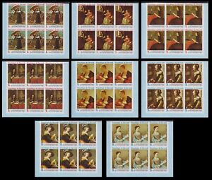 Burundi 1968 IMPERFORATE part of sheets - MNH Paintings stamp set x16......A5651