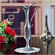 Beautiful Metal Arabian Egyptian Elegant Vase Centrepiece Decor Carved Silver