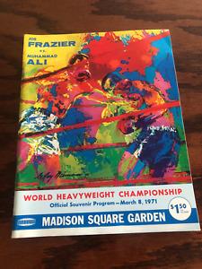 RARE VINTAGE ORIGINAL 1971 MUHAMMAD ALI vs JOE FRAZIER BOXING PROGRAM MSG NICE!