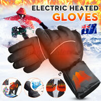 Warm Hand Waterproof Touchscreen Battery Electric Heated Gloves Motorcycle Sport