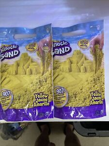 New Lot of 2 - 2 Lb Bags Of Kinetic Sand Yellow - NIB