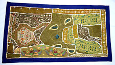 Magnificent Colorful vintage crafted Tapestry Patchwork wall hanging. i17-60 AU