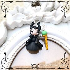 Orecchini Chibi Malefica ~ Cute Disney Earrings Fimo Polymer Clay Kawaii tiny