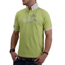 Camicie casual e maglie da uomo verde Polo in cotone
