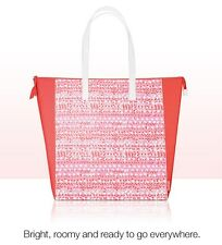 CLINIQUE'S SPRING 2017 TOTE -- SHOPPING/BEACH BAG ORANGE/PINK/SALMON