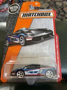 Matchbox Lamborghini Gallardo LP 560-4 Polizia Black Car Police Heroic Rescue