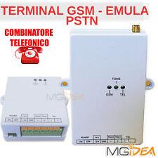 COMBINATORE TELEFONICO TERMINAL PSTN / GSM EMULA SIM CHIAMATE SMS PROGRAMMABILE
