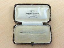 Antiguo Broche Joyería de Cuero Caja de joyería Leeds 1920