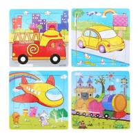 1pc Kids 9 Parts Puzzle Educational Toy Intelligence Development Wooden Toy P4PM