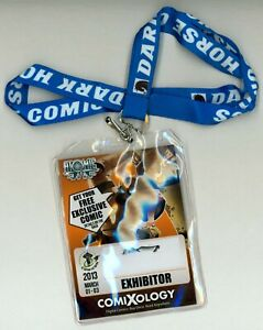 ECCC 2013 Exhibitor Pass Badge Emerald City Comic Con Atomic Robo Art Dark Horse