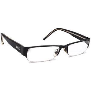 Dolce & Gabbana Eyeglasses D&G 08 Black Half Rim Frame 51[]16 135