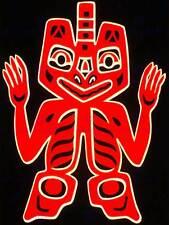 Native american blanket figure peuple haïda canada art poster print CC6609
