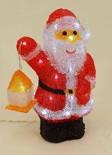 Dekobote, Acryl Weihnachtsmann H 31 cm BELEUCHTET 40 LED Licht Weihnachten